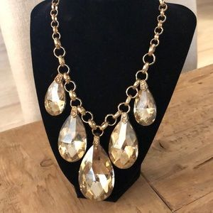 Jewelry - Large bronze mirrored crystal Necklace